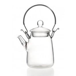 Plikymo arbatinukas metaline rankena